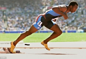Michael Johnson at the Atlanta Olympics,1996.