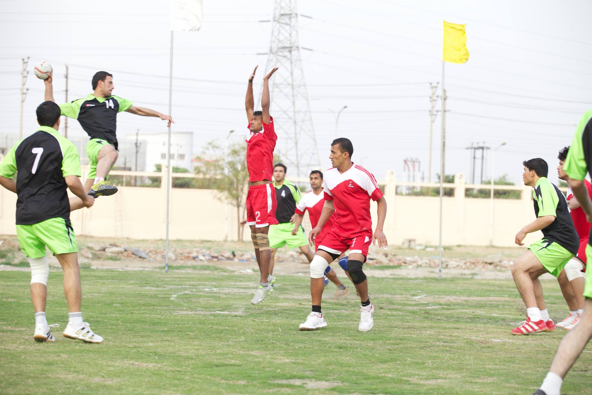 Action from the 3rd South Asian Men's Handball Championship