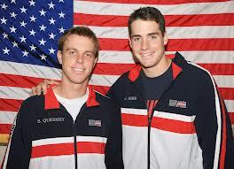 Sam Querrey (L) and John Isner