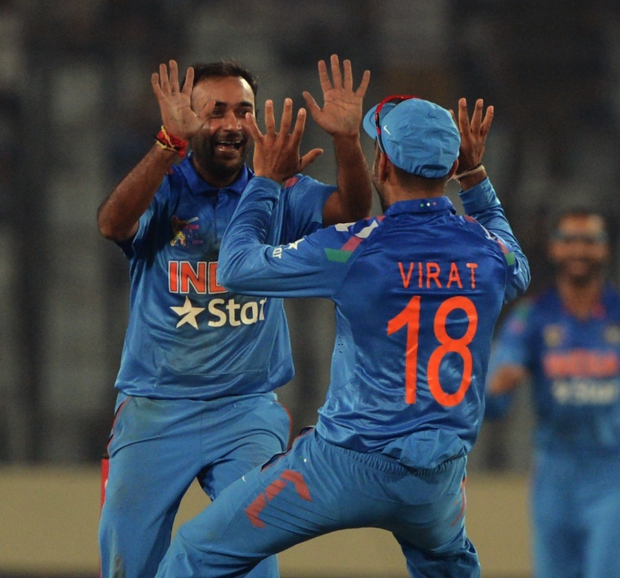 Amit Mishra bowled a parsimonious spell for two wickets