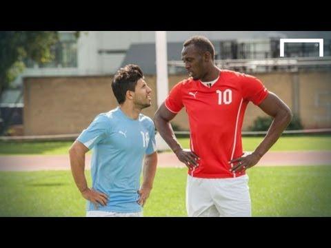 Usain Bolt speeds up Sergio Aguero
