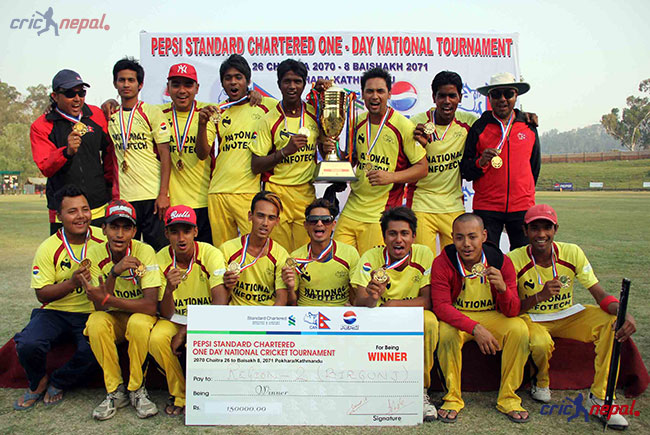 Birgunj With their National Cricket Title.