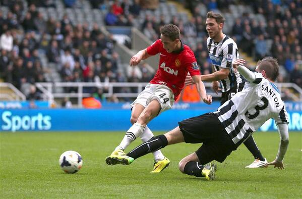 Adnan Januzaj with the fourth goal of the game