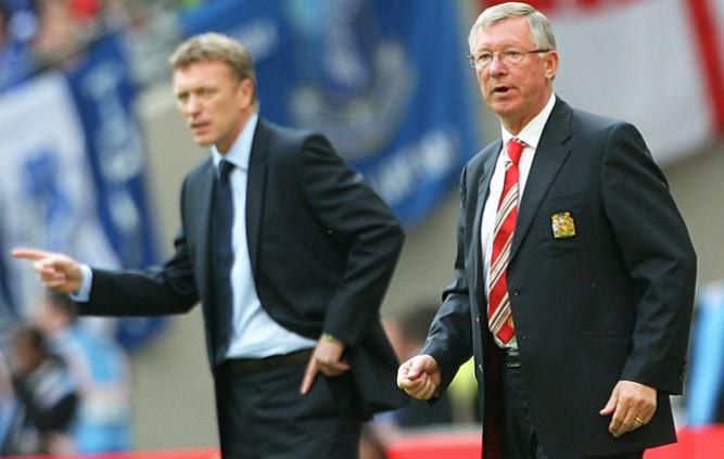 Moyes and Sir Alex Ferguson