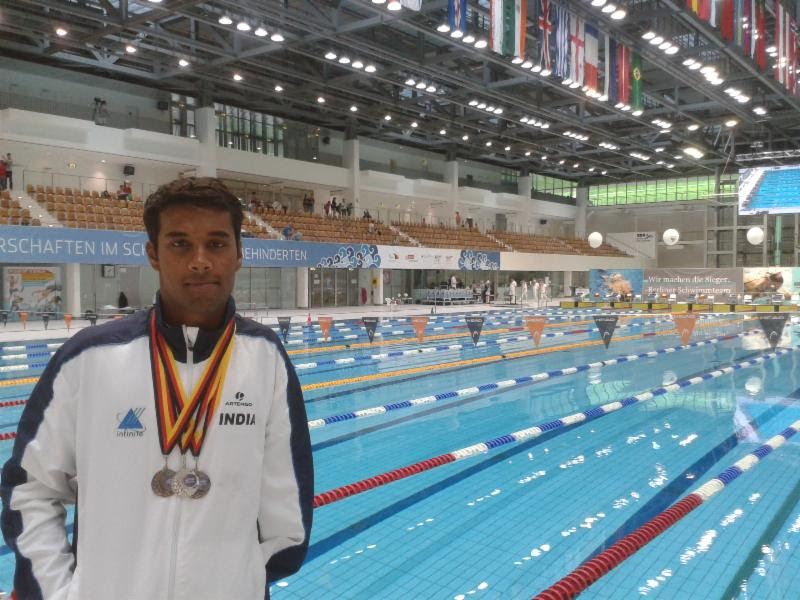 Sharath Gayakwad with his medals from IDM 2014.