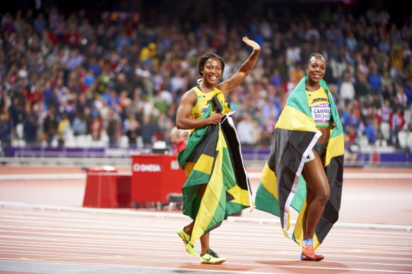 Shelly-Ann Fraser-Pryce and Veronica Campbell-Brown
