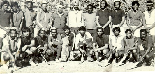 The 1975 World Cup winning Indian hockey team