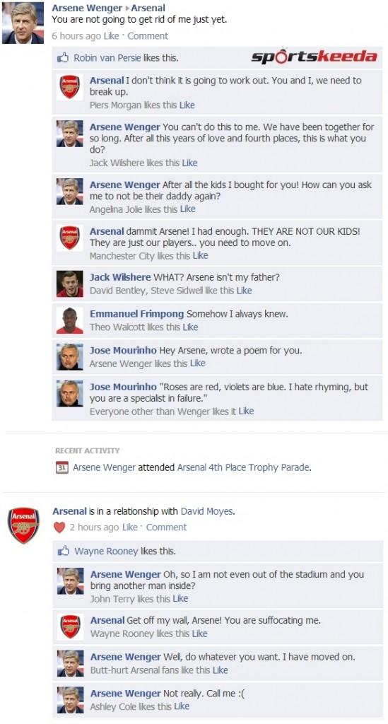 Arsene Wenger FB Wall