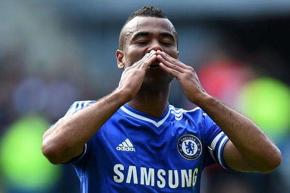 Chelsea's English defender Ashley Cole