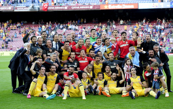 Atletico Madrid celebrate their long awaited title triumph
