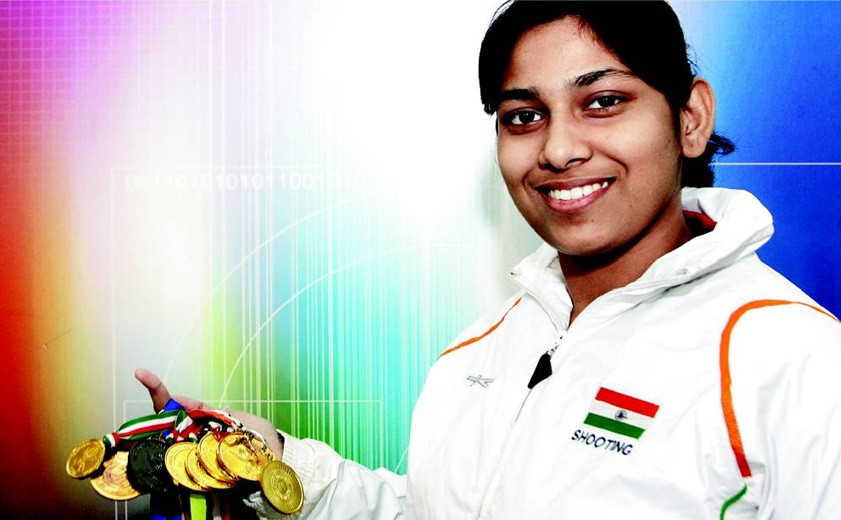 Ayonika Paul with her medals