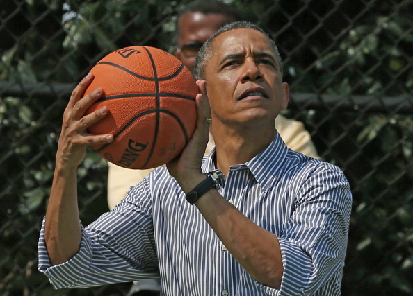US President Barack Obama, a long-time basketball fan
