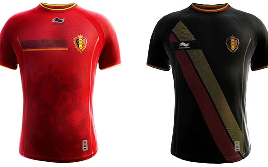 471ab8c62 The Belgium national football team is the only 2014 World Cup participant  whose kits are made by the Swiss   Qatari company Burrda Sports.