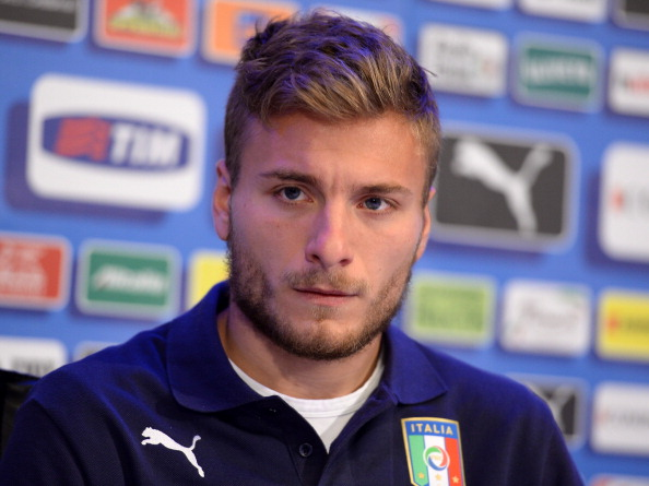 Ciro Immobile of Italy reacts during a press conference at Coverciano on May 21, 2014 in Florence, Italy.