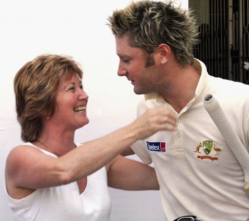 Michael Clarke and his mother. [Photo Courtesy: CA]
