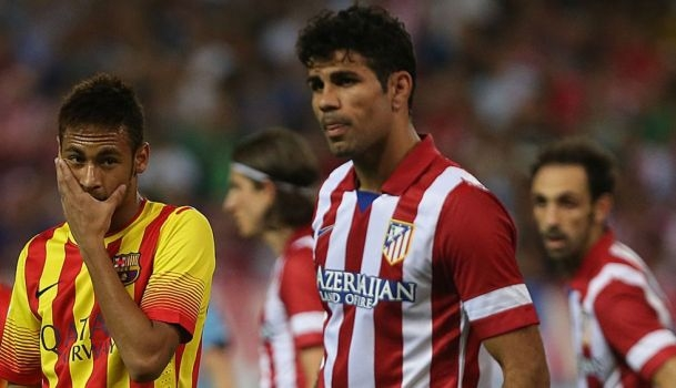 Fitness of Neymar and Diego Costa could decide La Liga title