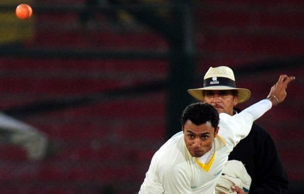 Pakistani cricketer Danish Kaneria deliv