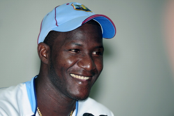 West Indies captain Darren Sammy speaks to the media prior to a training session at the Sher-e-Bangla National Cricket Stadium in Dhaka on November 12, 2012. The West Indies squad is in Bangladesh to play a series of two Tests, five One Day Internationals, and one Twenty20 match.    AFP PHOTO/ Munir uz ZAMAN        (Photo credit should read MUNIR UZ ZAMAN/AFP/Getty Images)