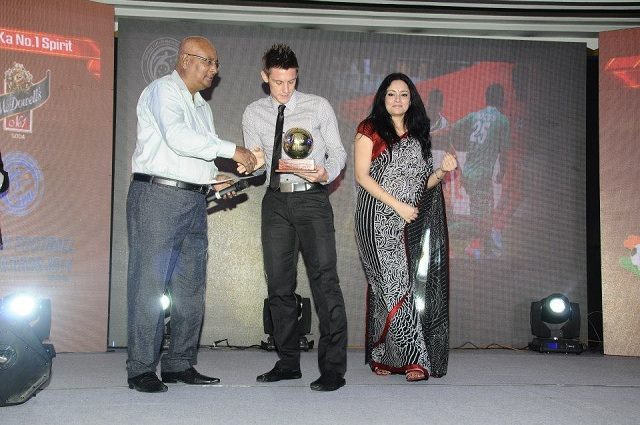 Darryl Duffy was adjudged Best Foreigner at the 2014 FPAI Awards