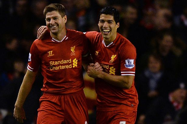 Steven Gerrard has heaped praise on Liverpool team-mate Luis Suarez