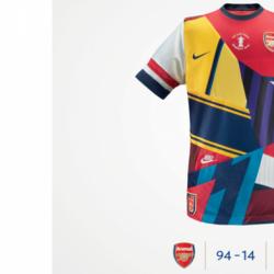 Nike designs an honorary Arsenal kit to celebrate their 20-year partnership