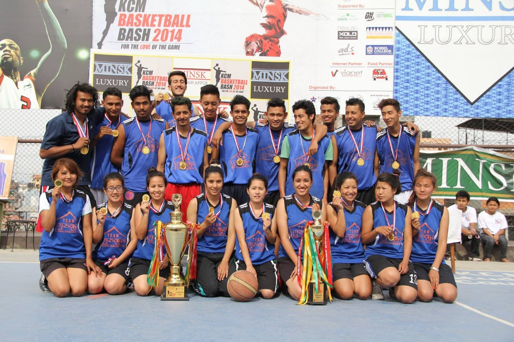 Gurukul College with their trophy