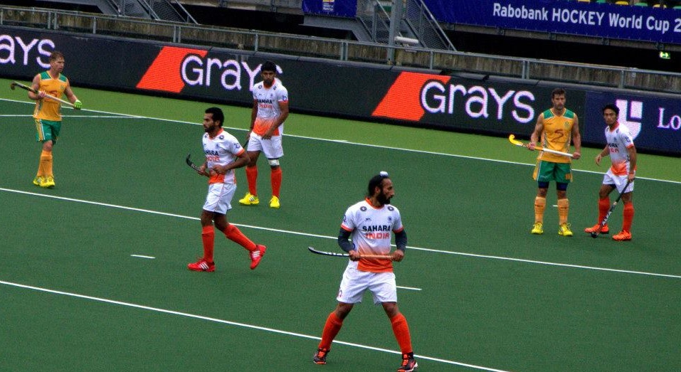 The Indian hockey team in action during their practice game