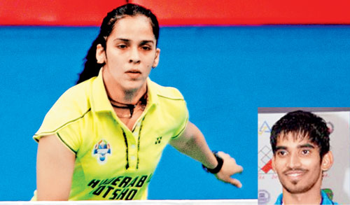 Saina and Srikanth will lead the Indian Uber and Thomas Cup teams respectively
