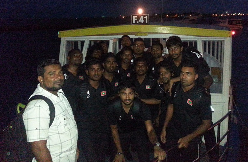 Team Maldives after the farewell ceremony at Male