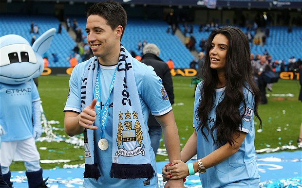 Samir Nasri with girl-friend Anara Atanes