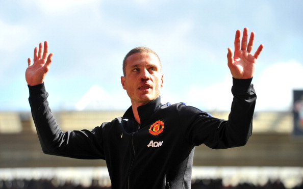 Nemanja Vidic says his final goodbye to Manchester United supporters in his final game for the club