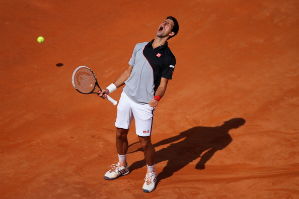 Novak Djokovic at the Rome Masters