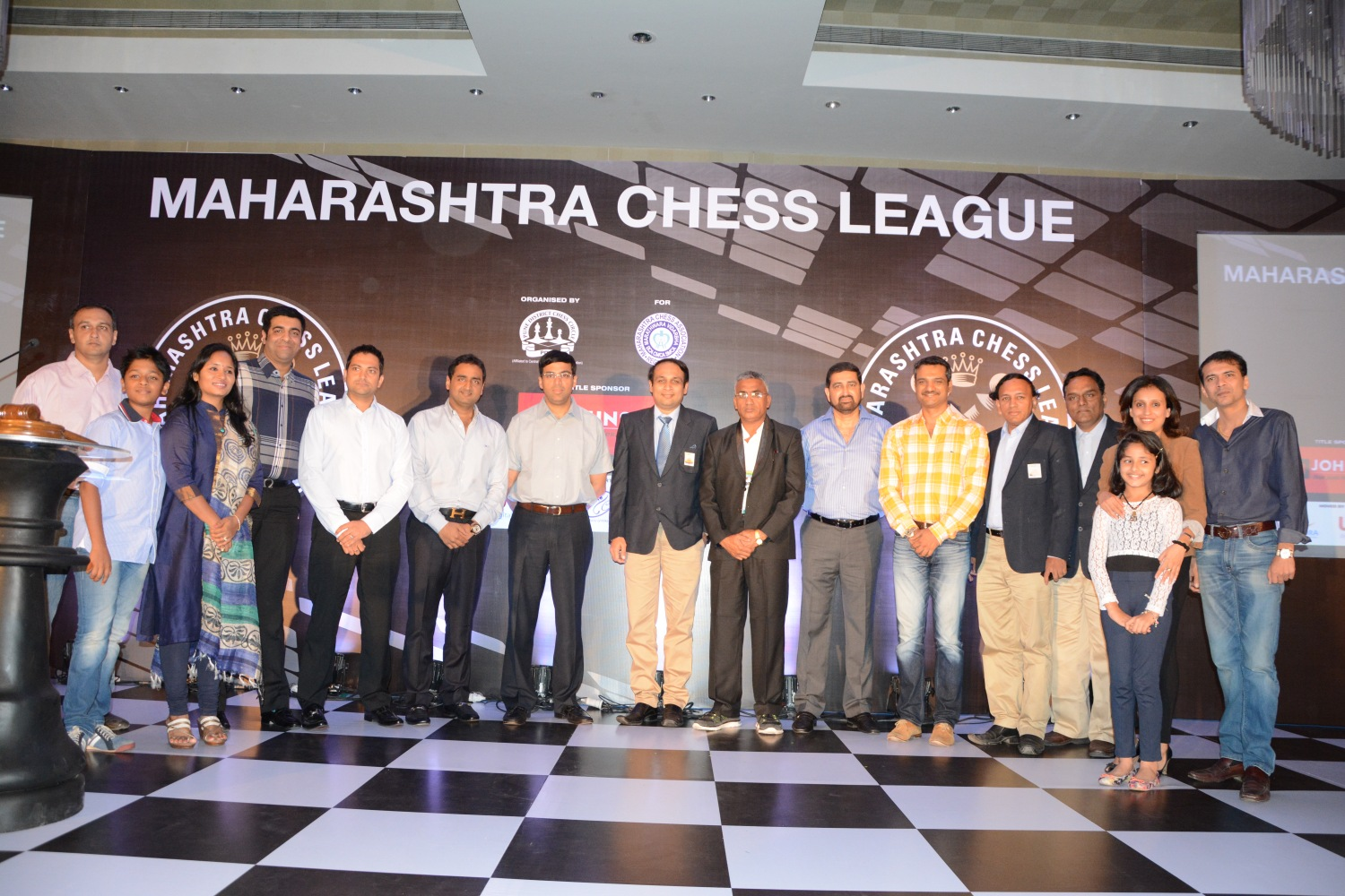 All the team owners with the chief guests