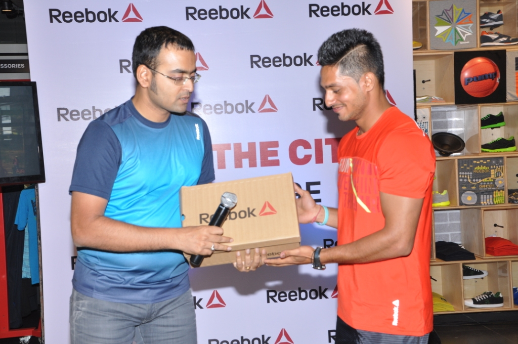 Winner Salman Abbas with Mr. Somdeb Basu, Brand Director – Reebok India