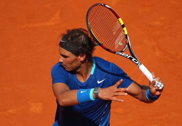 Rafael Nadal during his match against Roberto Bautista Agut in the Madrid semifinal