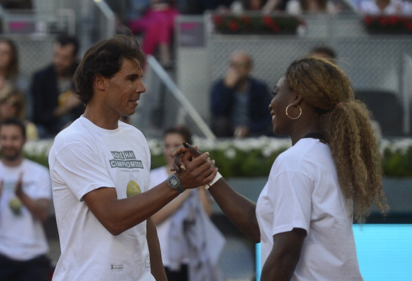Rafael Nadal and Serena Williams, the top seeds at the Madrid Open