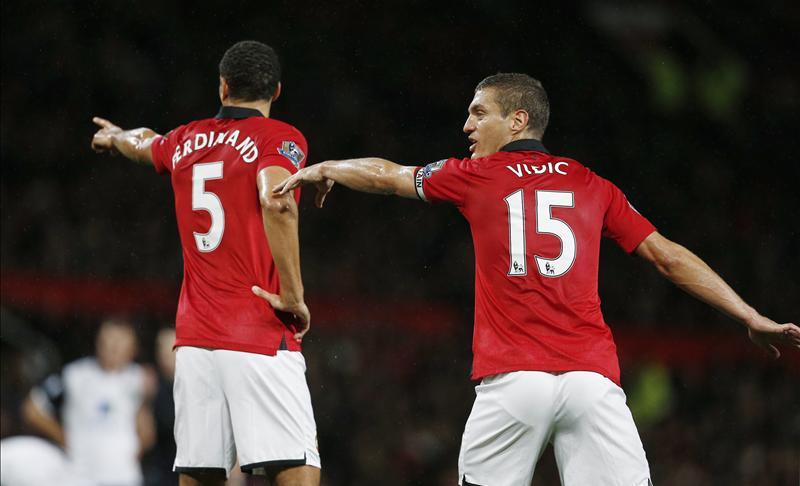 Rio Ferdinand and Nemanja Vidic
