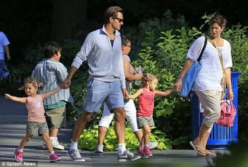 Roger Federer and his family enjoying a 'normal' day out