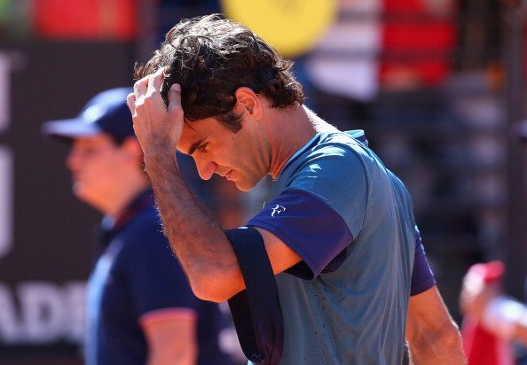 Roger Federer after his loss to Jeremy Chardy in the Rome 2nd round