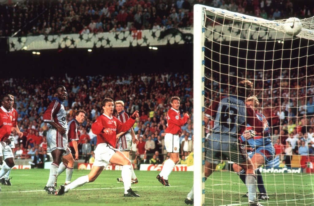 1999 champions league final winner scored by Solksjaer
