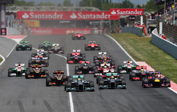 Action from the Spanish Grand Prix in 2013