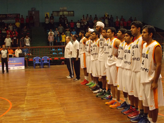 Team India before the match against Nepal