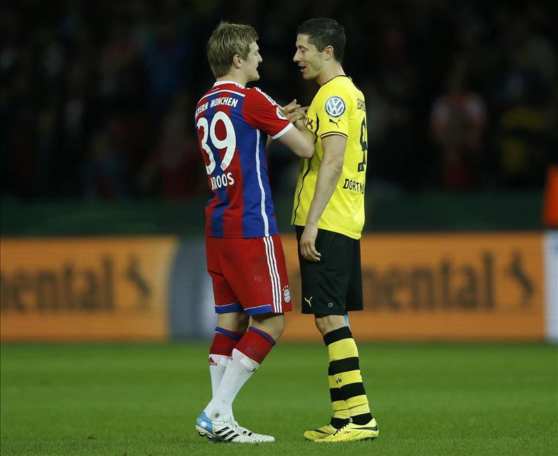 Toni Kroos and Robert Lewandowski