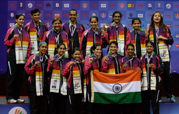India's Uber Cup team