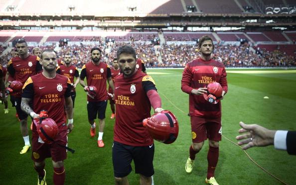 Galatasaray players.