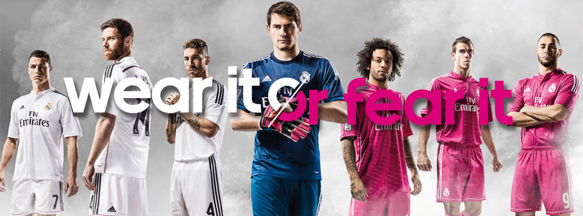 597243953 Real Madrid new kits Real Madrid unveil their new kits for the 2014 15  season. UEFA Champions League ...