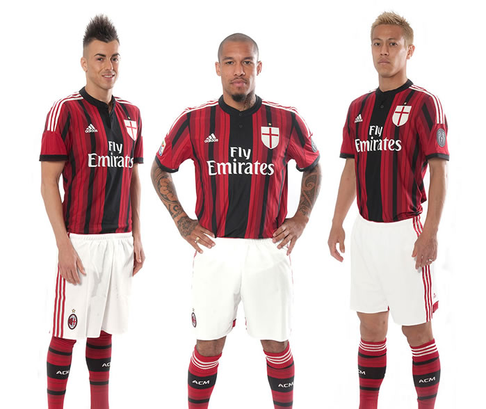 promo code 47fba 91387 AC Milan's new kits for 2014-15 season released