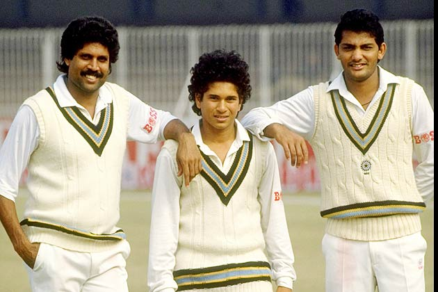 Image result for sachin tendulkar first match
