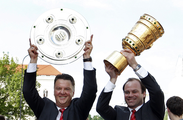 Image result for van gaal trophy