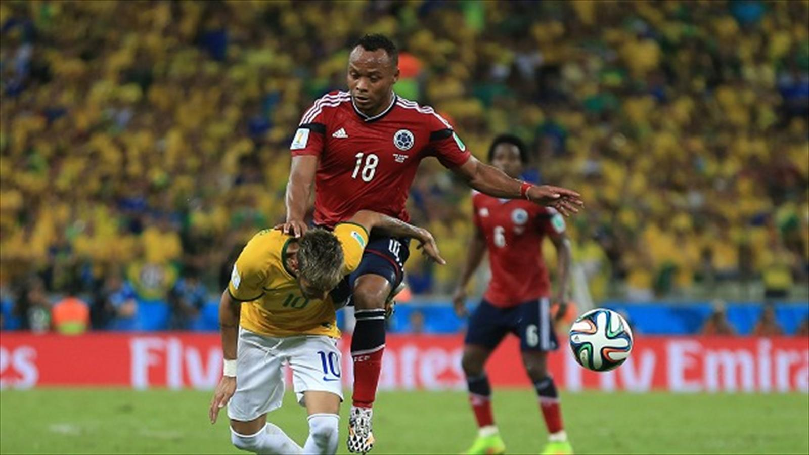 Colombia s Juan Zuniga escapes punishment for Neymar tackle Silva